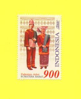 Indonesia Stamp - Indonesian Costumes Sumatra Barat