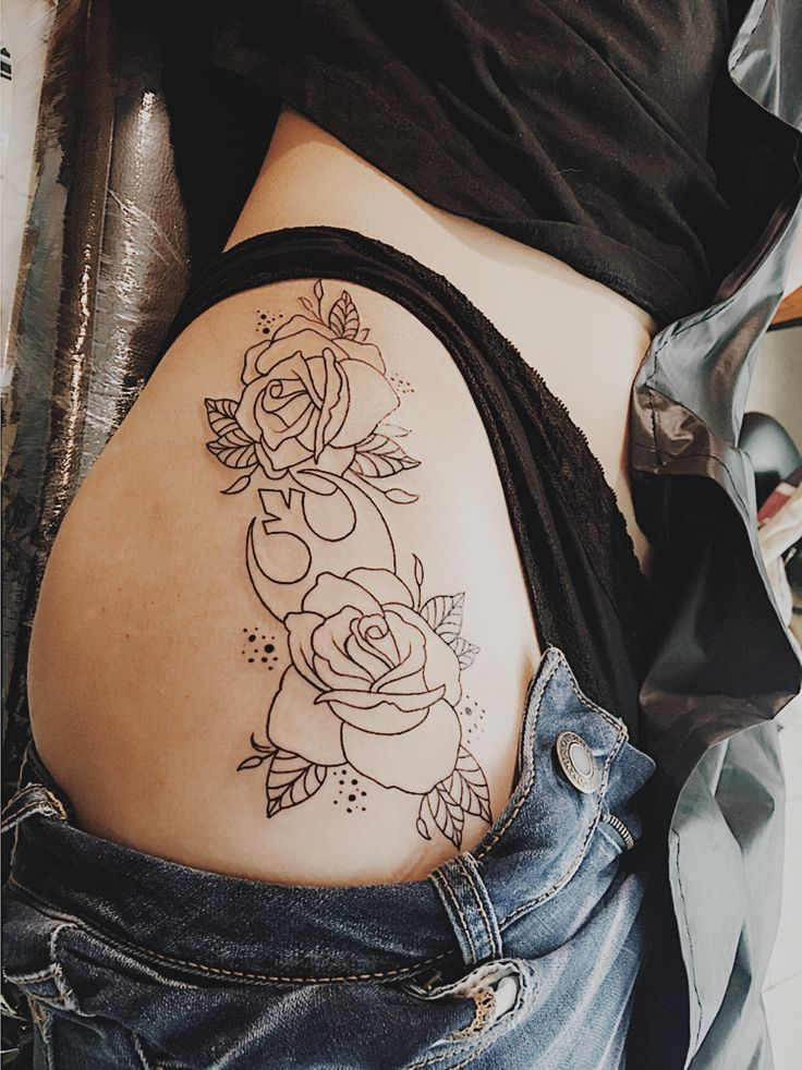 Star Wars Tattoo - Rebel Alliance - Roses - Flowers - May the force be with you