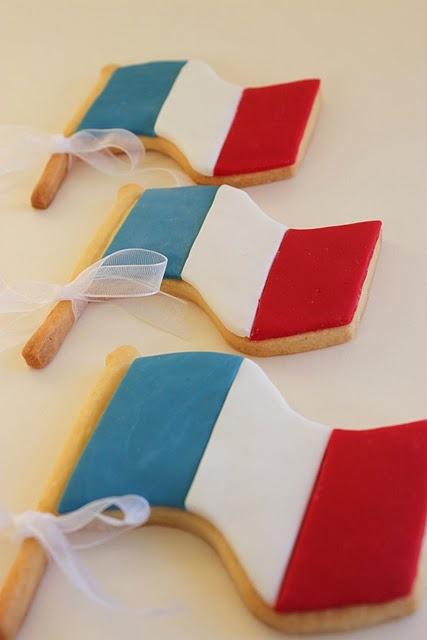 Cookies pour votre buffet du 14 juillet, parfait si vous organisez un bal du 14 juillet à la maison!