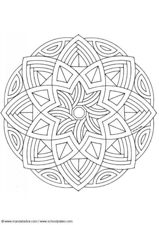 mandala  coloriage anti-stress