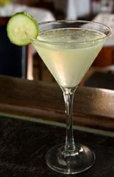 Cucumber Martini.  cucumber vodka, fresh cilantro, cucumbers and lime juice or the recipe on this article.