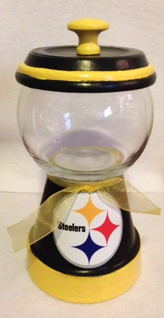 Pittsburgh Steelers Candy Dish http://squareup.com/market/erica-alejandre-2