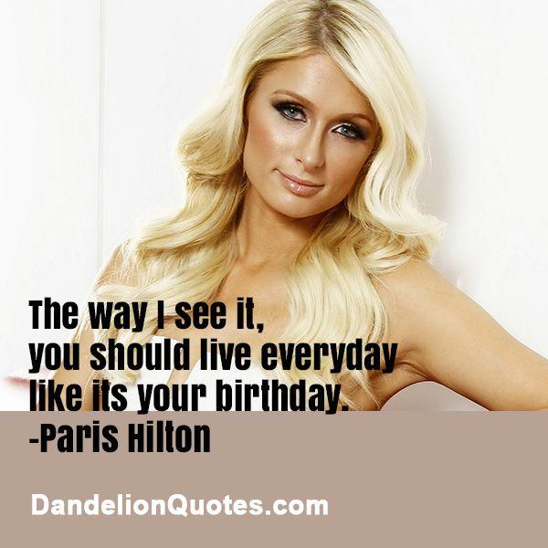 Birthday Quotes For Celebrity Crush: 42 Best Paris Hilton Images On Pinterest