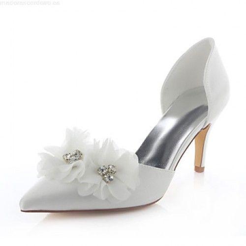 Comprar Vender Zapatos Mujer Tacón Stiletto Tacones / Puntiagudos Tacones Boda / Vestido / Fiesta y Noche Satén Elástico Marfil 5114992 2017 9IraV5Rh