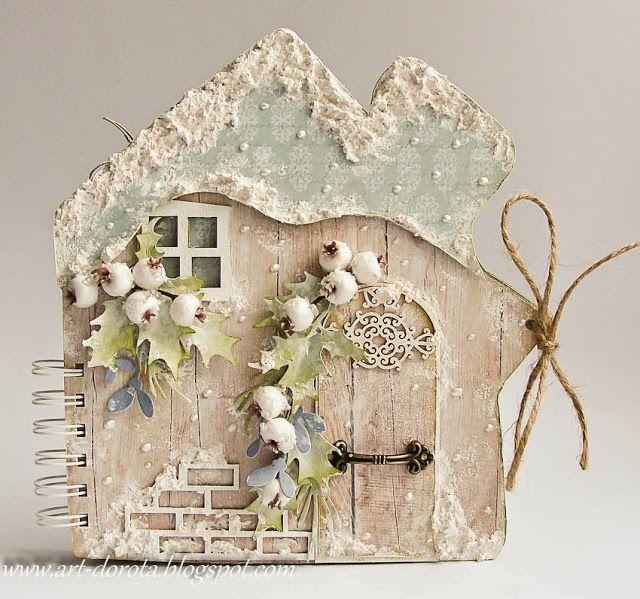 Открытки, домики из открыток своими руками фото