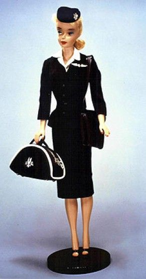 American Airlines Stewardess Barbie, circa 1962.