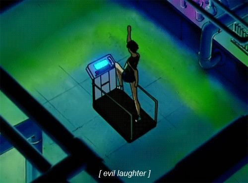 Heart Snatcher / Daimon / Deathbuster on a treadmill from Sailor Moon S anime  http://www.moonkitty.net/Sailor-Moon-S/index.php