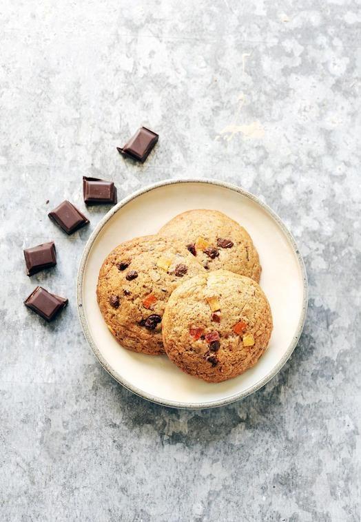 Cookies chocolat et fruits confits Recipes for Cook Processor Kitchenaid #CookProcessor