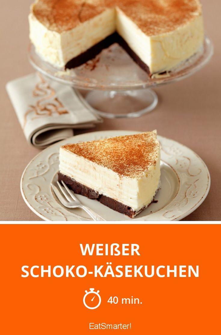 Weißer Schoko-Käsekuchen | http://eatsmarter.de/rezepte/weisser-schoko-kaesekuchen-0