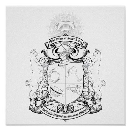 Order of St. Luis Coat of Arms Coloring Poster  $10.35  by Order_of_Saint_Luis  - custom gift idea