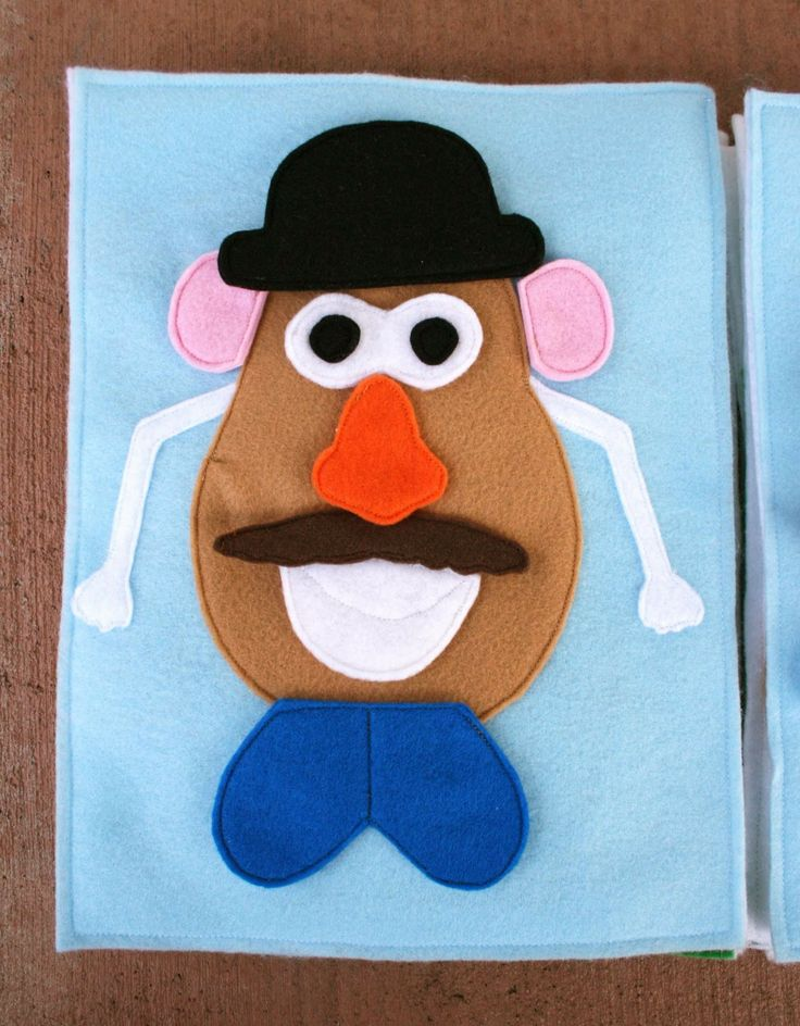 Sunshine, Lollipops, and Rainbows: Mr. Potato Head - Quiet book pages 10 & 11