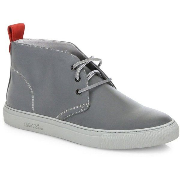Del Toro 3M Chukka Leather Sneakers (875 BRL) ❤ liked on Polyvore featuring men's fashion, men's shoes, men's sneakers, men's shoes - designer shoes, mens chukka boots, mens chukka shoes, mens chukka sneakers, mens leather lace up shoes and mens shoes