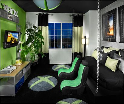 Awesome looking xbox room gamer room ideas pinterest for Cool gamer bedroom ideas