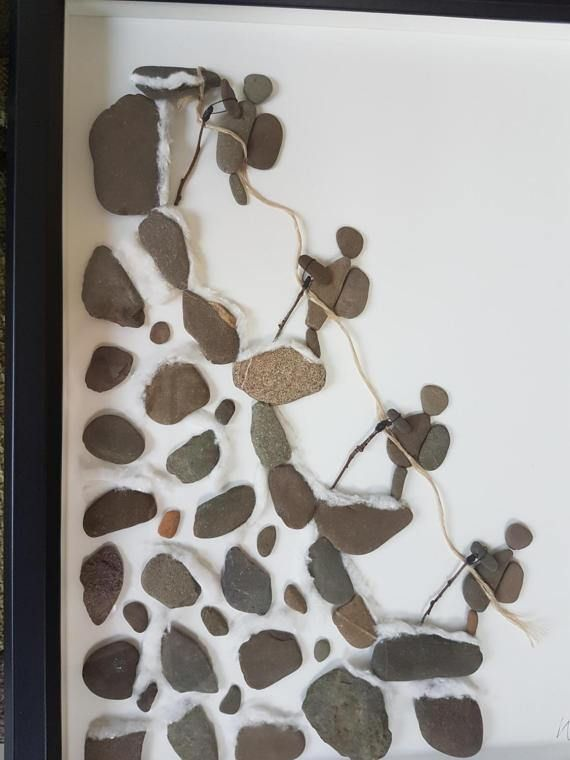 Kiesel Art Picture The Climb Pebble Artwork einzigartiges