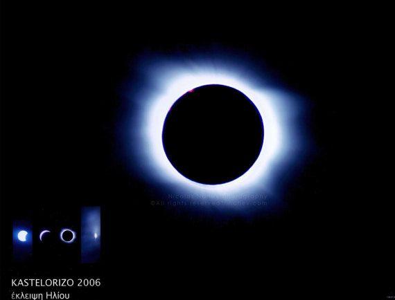 EclipseTotal in Kastelorizo island - Greece , fine art photography , home decor