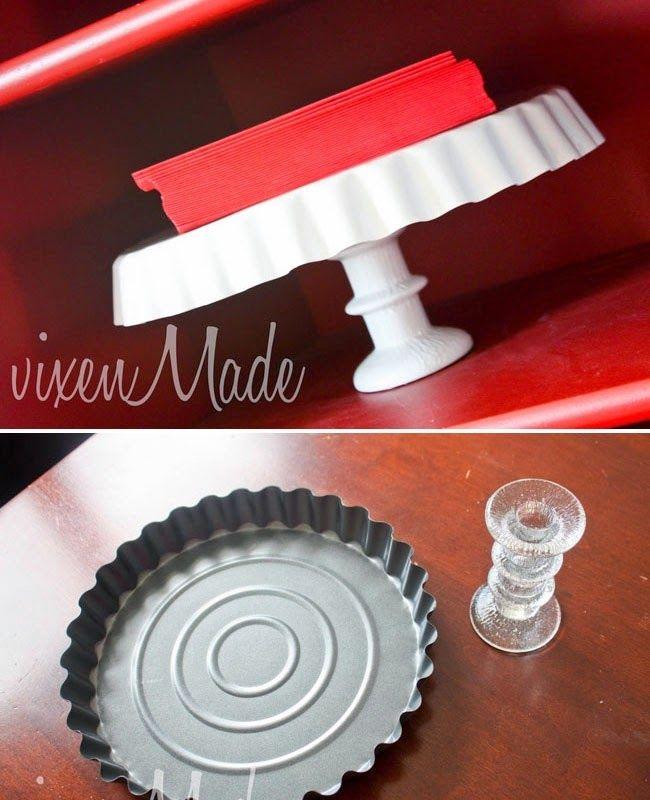 suporte para tortas e bolos formas ou pratos lindos mais  castiçal
