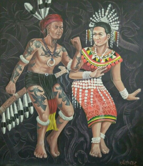 Dayak Tribal Dance  oil on canvas 120cm x 130cm 2015