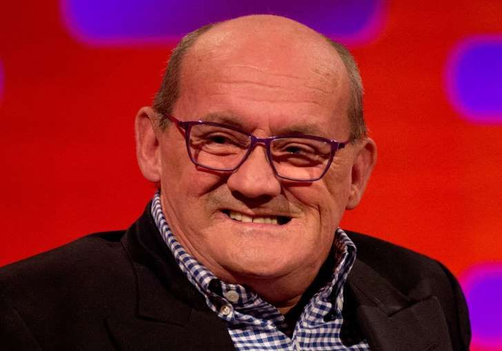 Brendan O'Carroll during filming of the Graham Norton Show: Graham Norton Show - London