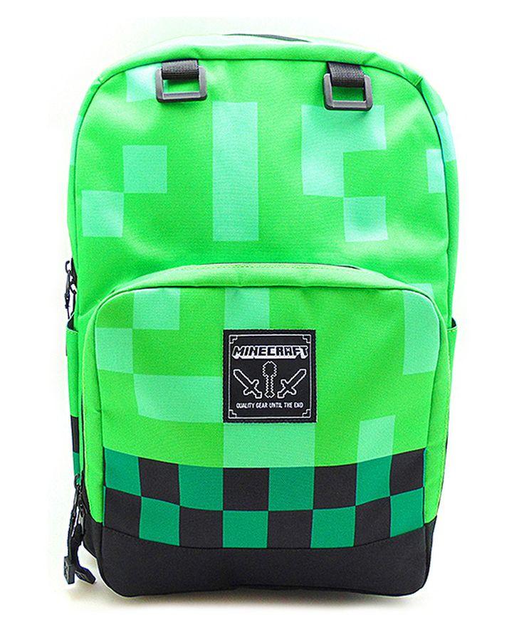 Green Minecraft Backpack by Wonderland Toys #zulily #zulilyfinds