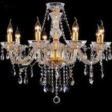 Luxo luz do Candelabro Modern lâmpada de cristal lustre de cristal de ouro da moda fashion luz do candelabro de cristal de iluminação(China (Mainland))
