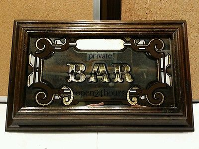 Vintage 70 S 80 S Etched Mirror Bar Sign Customizable