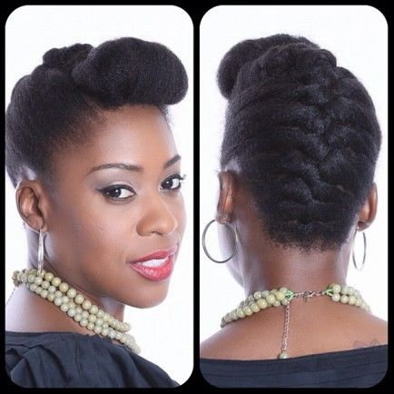 15 Ways To Wear An Inverted Braid.  Pump It Up Pin Up    Stylist, Tamika Fletcher has coined this inverted braid style, Pump It Up Pin Up.  It's a simple and elegant style that offers everyday simplicity.  Video Tutorial on Natural Resources Salon TV