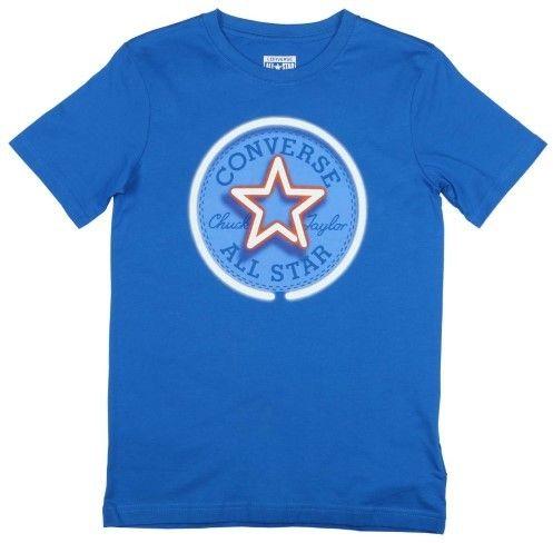 Converse Big Boys' (8-20) Neon Chuck Patch T-Shirt-Blue-Large