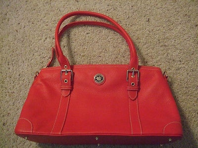 Dooney and Bourke Beautiful Red Handbag With Gold Details Nwot