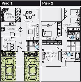 Plano De 120 M2 Para Casa De 8x15 Metros Planos De Casas Gratis Y Departamentos En Venta Planos De Casas Pequenas Planos De Casas Planos De Casa De Dos Pisos