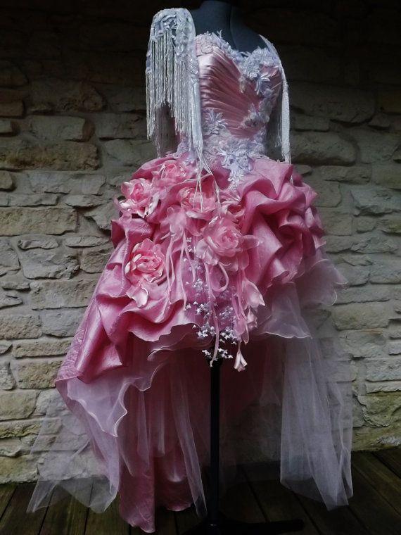 CUSTOM Handmade Wedding Victorian Evening Gown Mini by Arabescque