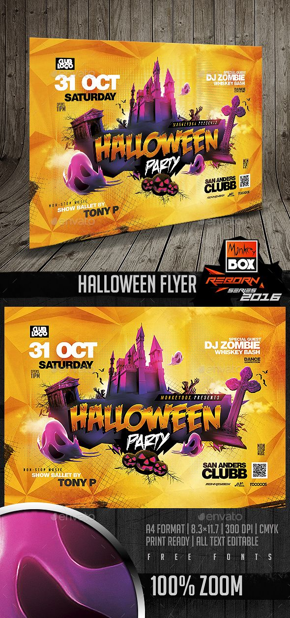 630 Best Halloween Flyer Templates Images On Pinterest | Flyer
