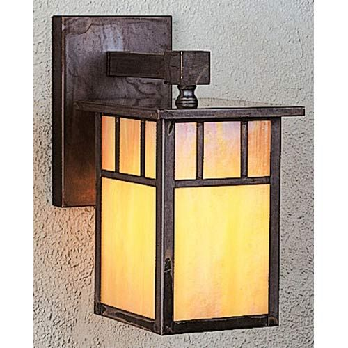 Huntington Gold White Iridescent T-Bar Outdoor Wall Mount