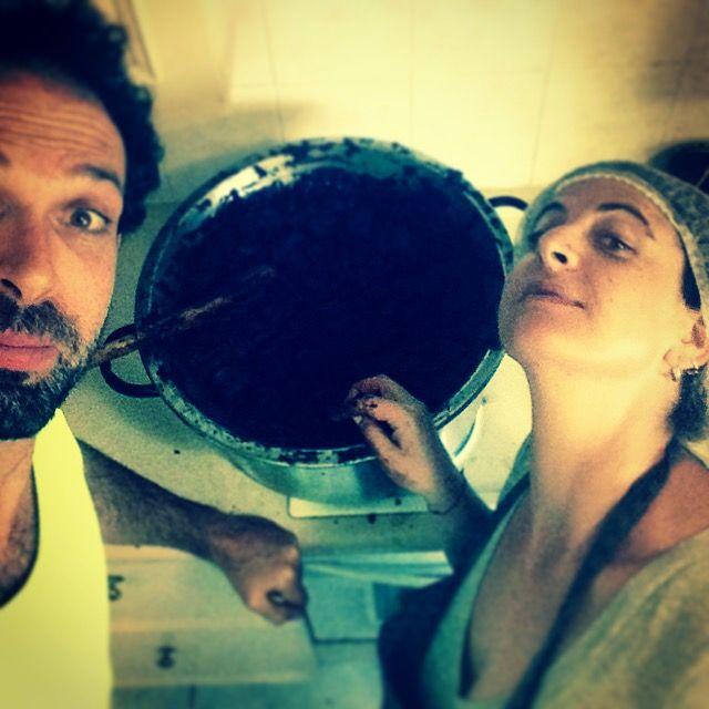 Lara & Daniel :) making chocolate