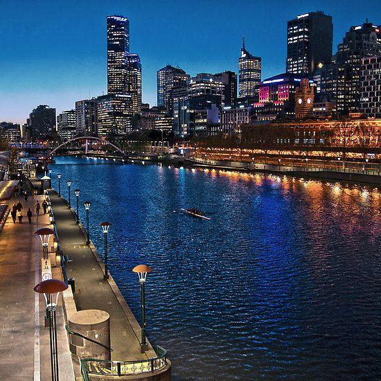 Melbourne Southbank Skyline HDR Victoria