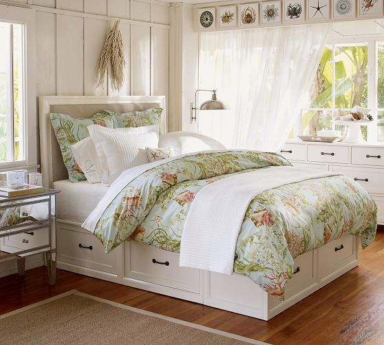 Stratton Bed With Drawers Bed U0026 Dresser Set, Full/Queen, Antique White