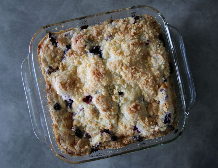 Alton Brown's Blueberry Buckle Recipe