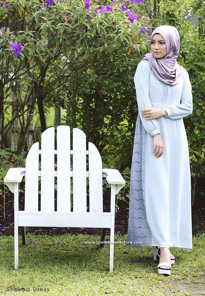 Shelma Dress - Klik gambar untuk melihat detail dan harga produk Juniperlane di website zilbab.com. Hijab, Jilbab, Fashion Hijab, Juniperlane Hijab, Hijabi, Juniper Hijab, Juniper Lane.