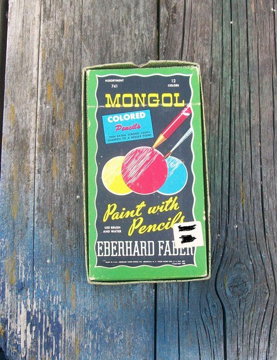 Vintage Eberhard Faber Mongol Colored Pencils  Paint with Pencils 1950 by VintageCDChyld on Etsy
