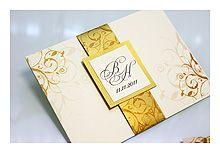 Коллекция «Золотые мотивы» - Приглашение на свадьбу - 1
