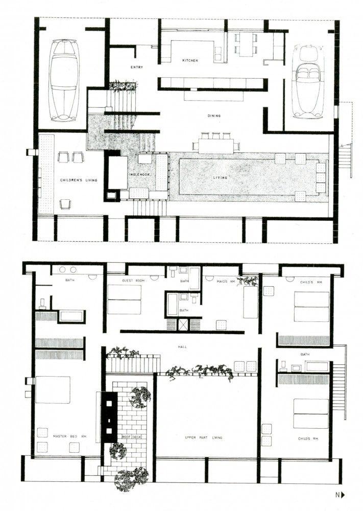 Ad Clics Milam Residence Paul Rudolph Rudolpharchitecture Designarchitecture Drawingsfloor Planshouse Plansjacksonville Floridaflorida