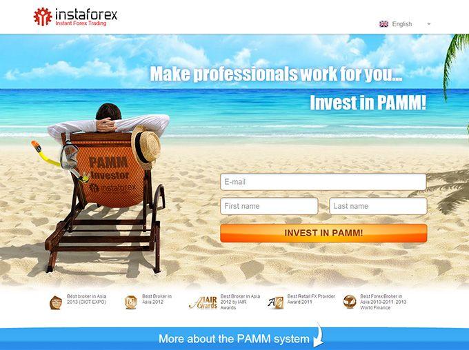 PAMM accounts Sistem InstaForex akun PAMM adalah cara yang dapat diandalkan untuk menginvestasikan dana dalam transaksi pedagang lain dengan tidak ada batasan. Setiap pengguna sistem PAMM dapat membuat keuntungan bebas risiko dengan menarik investor.  Klik Banner Untuk Register PAMM Account..!!!