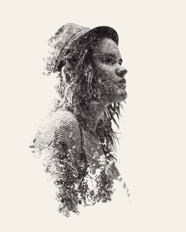 We Are Nature – Multiple Exposure Portraits Vol. II by Christoffer Relander, via Behance