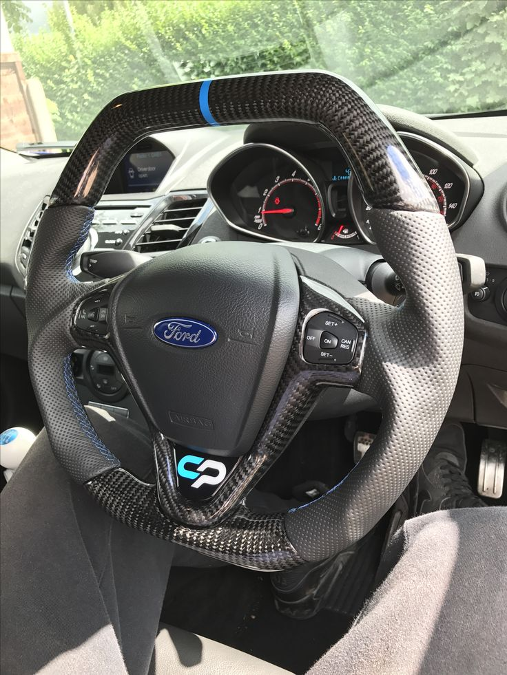 Ford Fiesta Hatchback >> ↕️Ford Fiesta Custom Steering Wheel for @luk3howard now fitted, carbon fibre top/bottom and ...