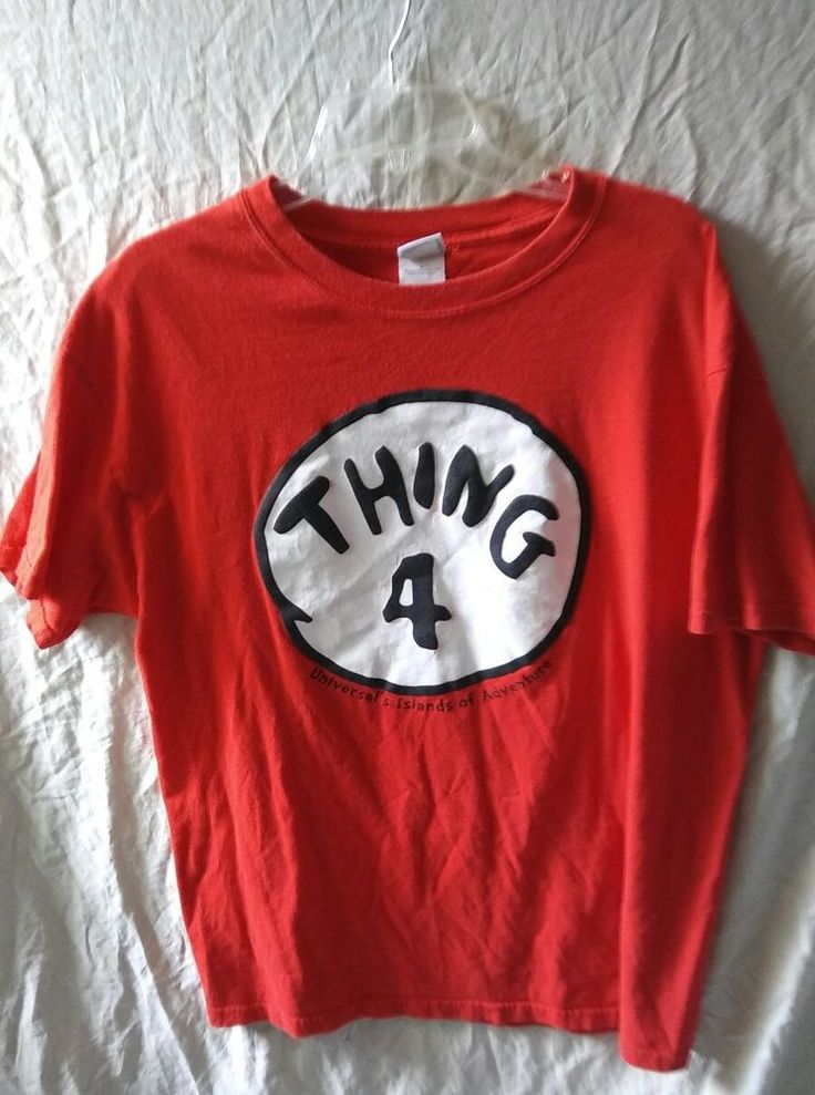 Dr Seuss THING 4 Universal Islands of Adventure Red T-Shirt Size Large #UniversalStudios #GraphicTee