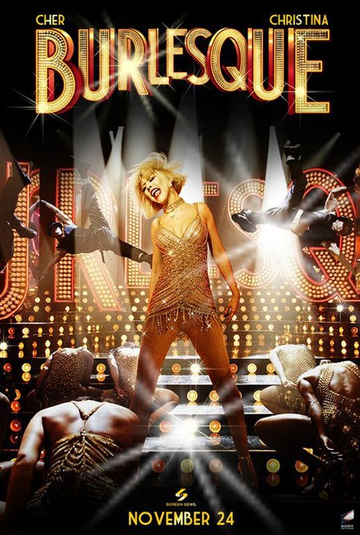 Burlesque (2010) - The first thing that is wrong with this movie is that there is no burlesque. There is no striptease, much less stripping, to be had. Then there's Christina. Which is more implausible, the idea that she is supposed to be from a small town (with an LA accent), or the idea that she can act? The plot is predictable and flat, Ms. Cher notwithstanding. Tucci does what he can.