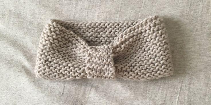 Patron gratuit pour tricoter un headband au point mousse