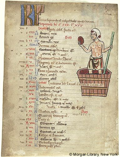 Church Calendar leaves, MS M.908.4 fol. 1v - Images from Medieval and Renaissance Manuscripts - The Morgan Library & Museum