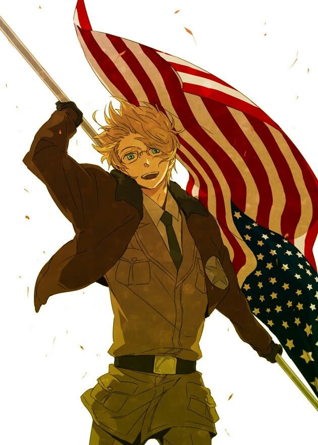 Hetalia America he looks so cool in this one
