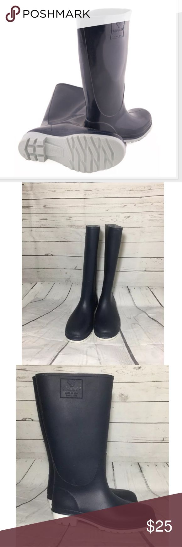 Tingley Women's Trim Fit Knee Boots Size 6 • Tingley  • Welles  • Boots • Neoprene Rubber • Color: Blue  • Size: 6 • Very Good pre-owned, minor scuff on bottom of both heels. Tingley Shoes Winter & Rain Boots