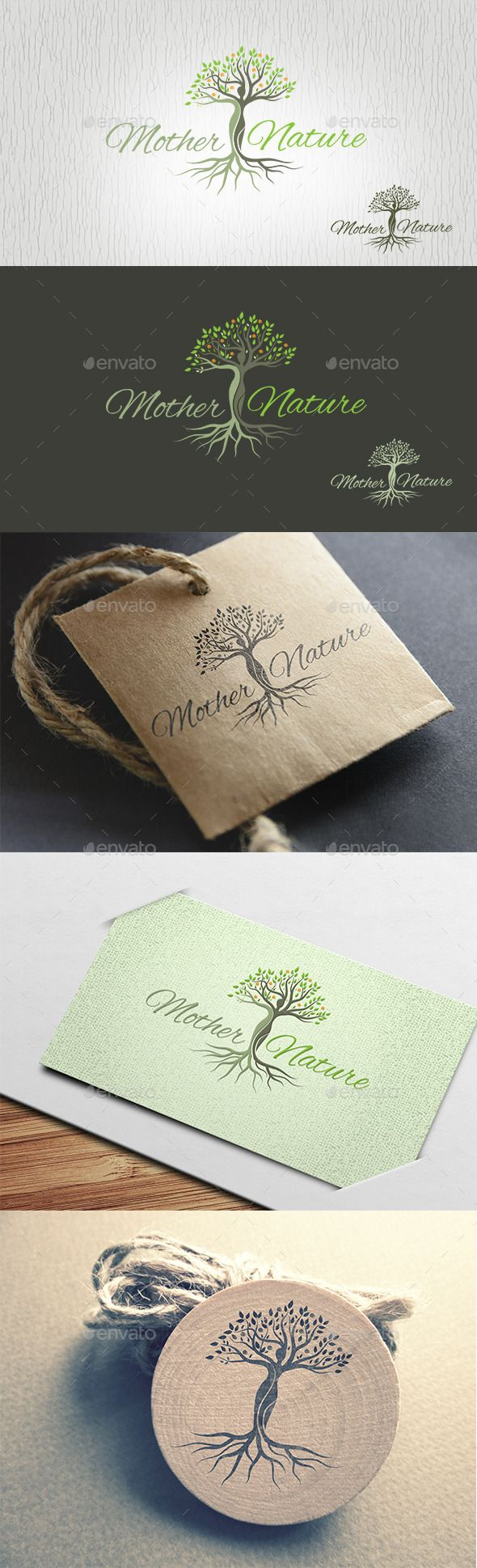 Mother Nature Logo — Vector EPS #landscape #food • Available here → https://graphicriver.net/item/mother-nature-logo/13400275?ref=pxcr